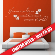 If I Lay Here Snow Patrol Wall Sticker W41 - Wall Quotes