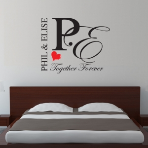 Together Forever  - Personalised Wall Sticker