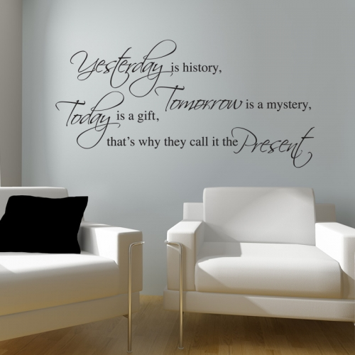 yesterday wall sticker wall quotes wall stickers success is a journey not a destination quote decal wall