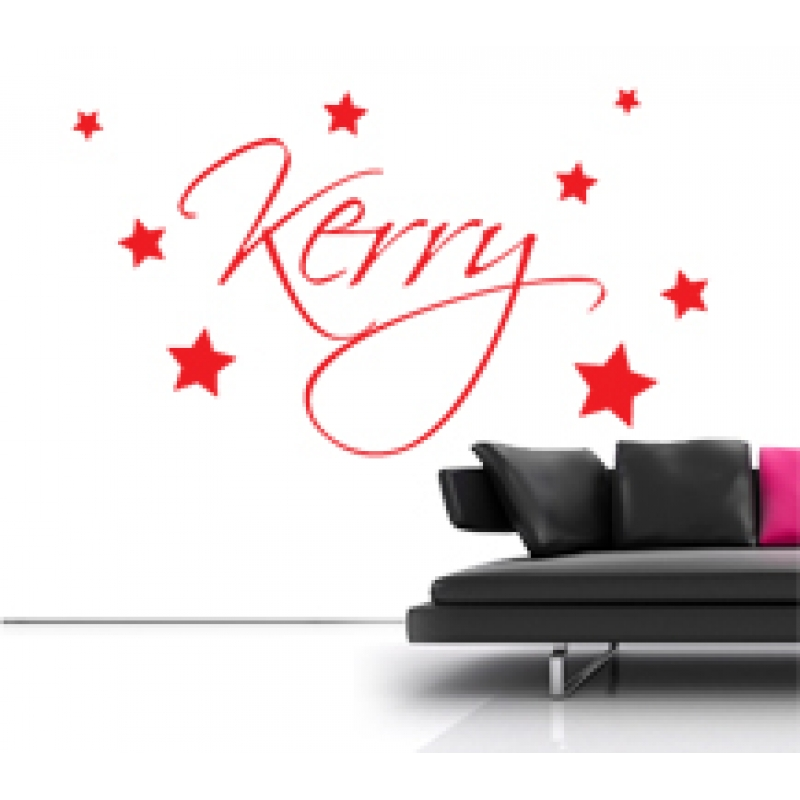 personalised name on a wall sticker kids wall stickers